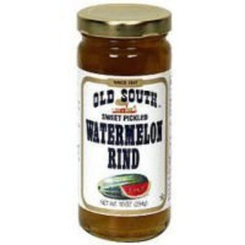 Old South South Sweet Pickled Watermelon Rind 10 Oz Jar (3 Pack)