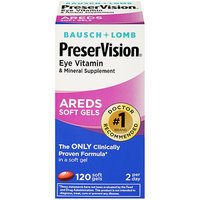 Bausch + Lomb Bausch & Lomb PreserVision Eye Vitamin and Mineral Supplement with Areds - 120 Softgels