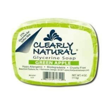 Clearly Natural, Glycerine Soap, Green Apple Bar (4 oz)