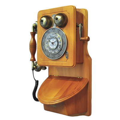 Pyle Retro Themed Coutry-Style American Heritage Wall-Mount Telephone