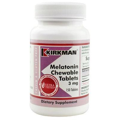 Kirkman Melatonin Chewable Tablets 3 mg - 150 Tablets