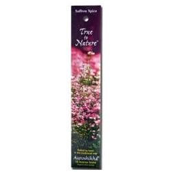 Auroshikha Candles & Incense Auroshikha True To Nature Incense Saffron Spice - 16 Sticks