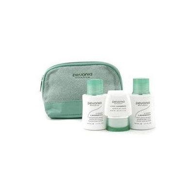 Pevonia Botanica Your Skincare Solution Sensitive Skin Set: Cleanser 50ml + Lotion 50ml + Cream 20ml + Bag 3pcs+1bag