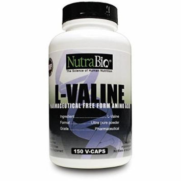 NutraBio L-Valine Free Form 450 Mg - 150 Vegetable Capsules