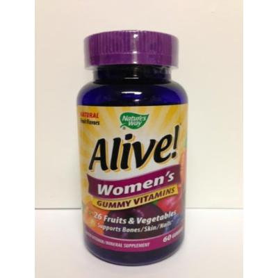 Alive - Womens Multivitamin Chewable Gummies 60 CT (PACK OF 2)