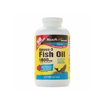 Mason Natural Omega-3 Fish Oil 1000 mg, Softgels 400 ea