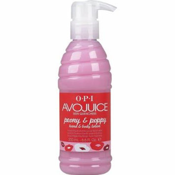 Opi Avojuice Hand Lotion, Peony and Poppy, 6.6 Fluid Ounce