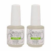 2 Harmony Gelish Nourish Nail Cuticle Hydrating Natural Oil Treatment .5oz - Bottle