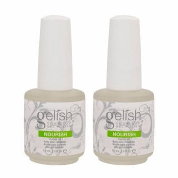 2 Harmony Gelish Nourish Nail Cuticle Hydrating Natural Oil Treatment .5oz - Bottle