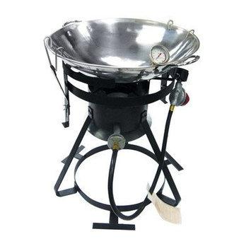 Rankam Seri Metal Mfg Ltd Kamp Kitchen 18-inch Stainless Steel Wok Set