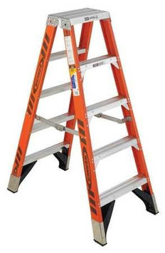 WERNER T7405 Twin Stepladder, Fiberglass, IAA,5ft, T7400