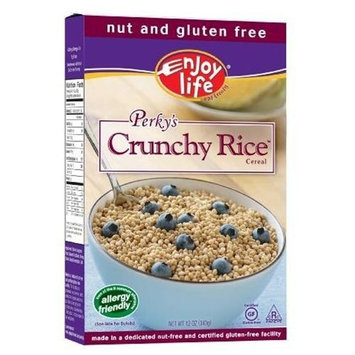 Enjoy Life Enjoy Life, Perky's Crunchy Rice Cereal, 10-Ounce Boxes (Pack of 12)
