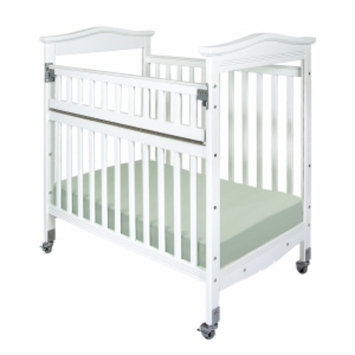 Child Craft Kingswood Professional Child Care SafeAccess Compact Crib, Clearview Ends, White, 1 ea