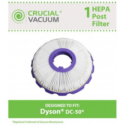Crucial Vacuum Dyson DC50 Post Motor HEPA Style Filter, Part # 965080-01