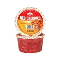 Paradise Red Cherries, Whole, 8 Ounce Tubs (Pack of 4)