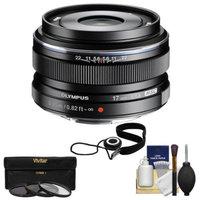 Olympus M.Zuiko 17mm f/1.8 Digital Lens (Black) with 3 UV/ND8/PL Filters + Accessory Kit for OM-D EM-5, Pen E-P5, E-PL2, E-PL3, E-PL5, E-PM1, E-PM2 Micro 4/3 Cameras
