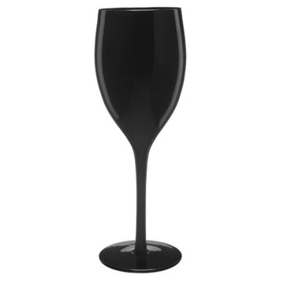 Artland Wine Glasses Set of 6 - Midnight Black