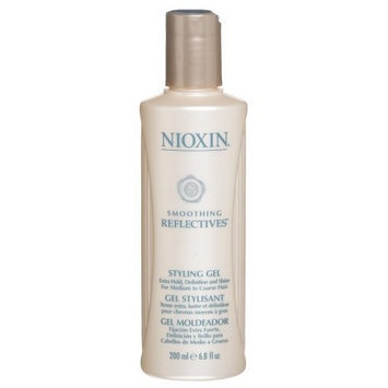 Nioxin Smoothing Reflectives Styling Gel, 6.8 Ounce