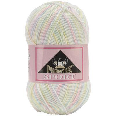 Spinrite 166038-38306 Phentex Sport Ombres Yarn-Baby Baby