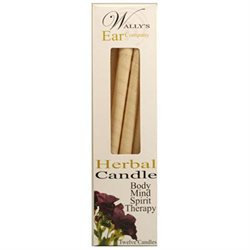 Wallys Natural Products Herbal Paraffin Hollow Ear Candles, 12 pk, Wally's Natural Products