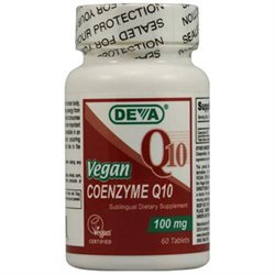 Deva Nutrition - Vegan Coenzyme Q10 Sublingual 100 mg. - 60 Tablets