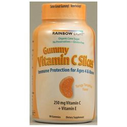 Rainbow Light Nutritional Systems Rainbow Light Gummy Vitamin C Slices, Tangy Tangerine, Orange