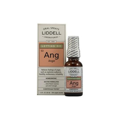 Liddell Laboratories - Ang Letting Go Anger Homeopathic Oral Spray - 1 oz.