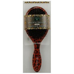 Earth Therapeutics Large Lacquer Pin Cushion Brush with Leopard Design - 1 Brush