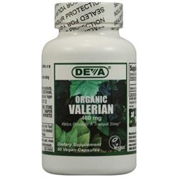 Deva Nutrition - Vegan Organic Valerian 460 mg. - 90 Vegetarian Capsules