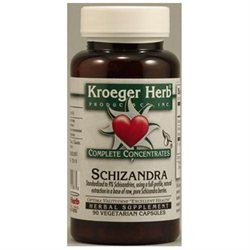 Kroeger Herbs - Schizandra Complete Concentrate - 90 Vegetarian Capsules