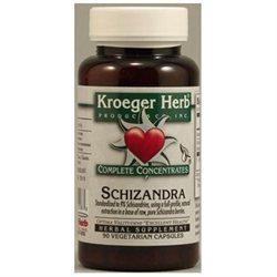 Kroeger Herbs - Schizandra Complete Concentrate - 90 Vegetarian Capsules