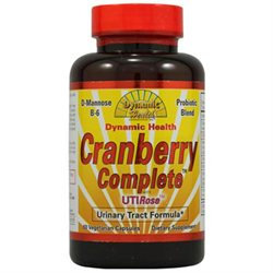 Dynamic Health Laboratories Dynamic Health Cranberry Complete Utirose Urinary Tract Formula, 60ct