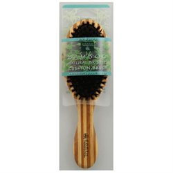 Earth Therapeutics Regular Bamboo Natural Bristle Cushion Brush - 1 Brush