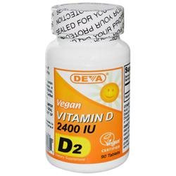 Deva Nutrition - Vegan D2 Vitamin D 2400 IU - 90 Tablets