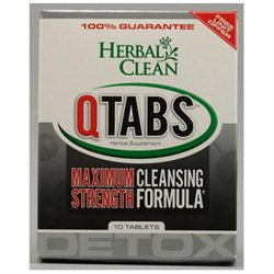 BNG Enterprises - Herbal Clean QTabs Maximum Strength Cleansing Formula - 10 Tablets