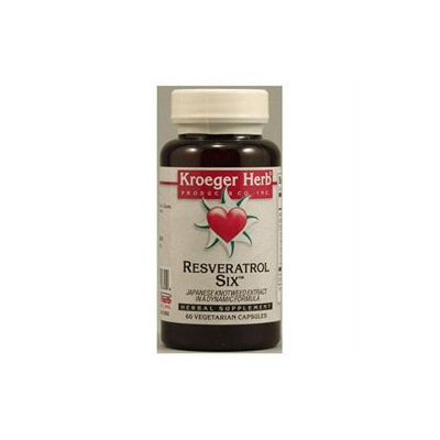 Kroeger Herbs - Resveratrol Six - 60 Vegetarian Capsules