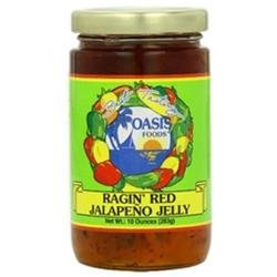 Oasis Foods Ragin' Red Jalapeno Jelly 10 oz