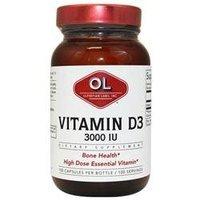 Olympian Labs Vitamin D3 - 3000 IU - 100 Capsules