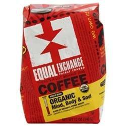 Equal Exchange Organic Coffee Ethiopian Whole Bean (6x6/12 Oz)