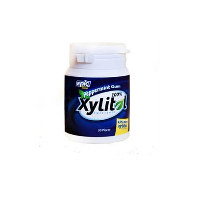 Epic Dental Peppermint Gum Xylitol Sweetened 50 Count