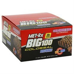 MET-Rx BIG 100 Colossal High Protein Brownie Bar - Super Chocolate Fudge