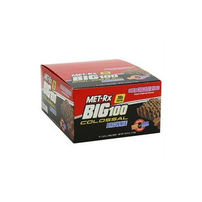 MET-Rx BIG 100 Colossal High Protein Brownie Bar - Super Chocolate Fudge