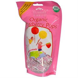 Yummy Earth Organic Standup Lollipops Strawberry Smash - 3 oz