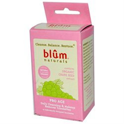 Blum Naturals Pro Age Daily Cleansing and Makeup Remover Towelettes - 10 Towelettes