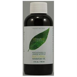 Tea Tree Therapy Macadamia and Lemon Myrtle Natural Massage Oil 4 fl oz