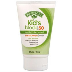 Kids Broad Spectrum SPF 50 Sunscreen, 4 oz, Nature's Gate