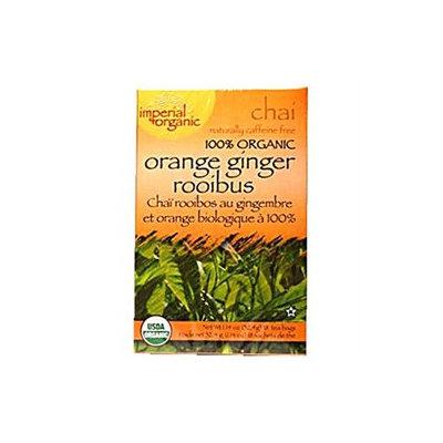 Uncle Lees Tea 0639120 Imperial Organic Orange Ginger Rooibus Chai Tea - 18 Tea Bags