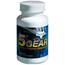 Oxylife Products - 5th Gear Natural Energy Enhancer - 30 Capsules