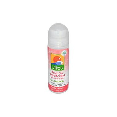 Lafes Natural Body Care 0420638 Natural and Organic Roll On Deodorant Powder Scent - 3 oz