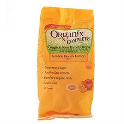 Organix Complete Cough & Sore Throat Drops Golden Honey Lemon